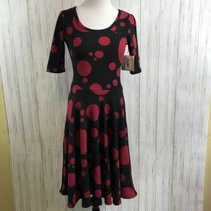 NWT Lularoe Nicole Dress A Line Polka Dot